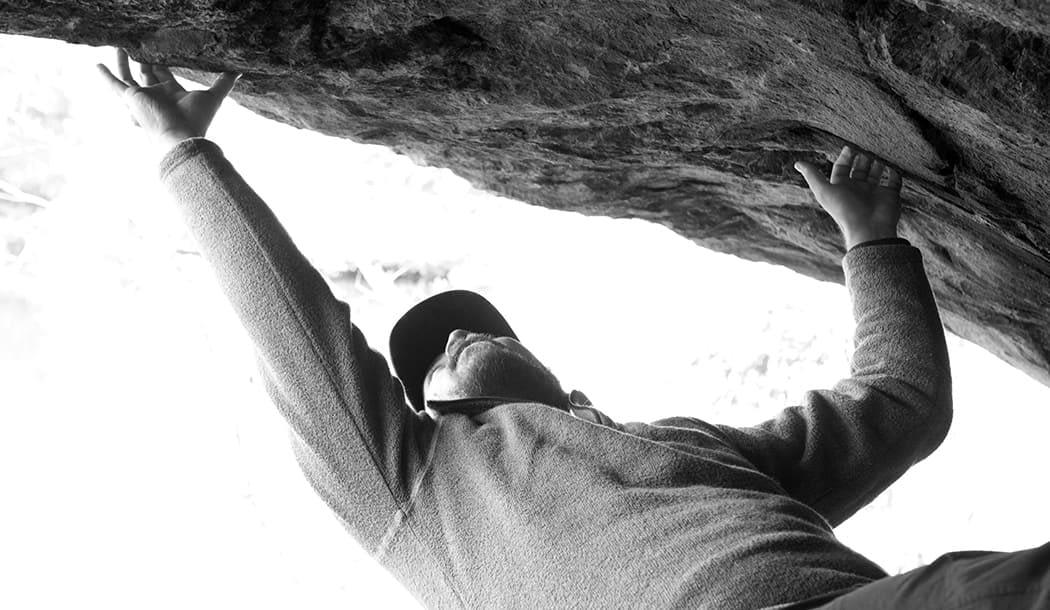 Rock Climbing Shot - Ari Gunzburg