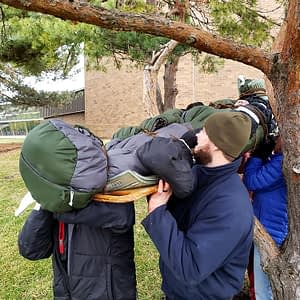 Practicing Carrying Loaded Backboard