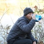 Drinking from Nalgene