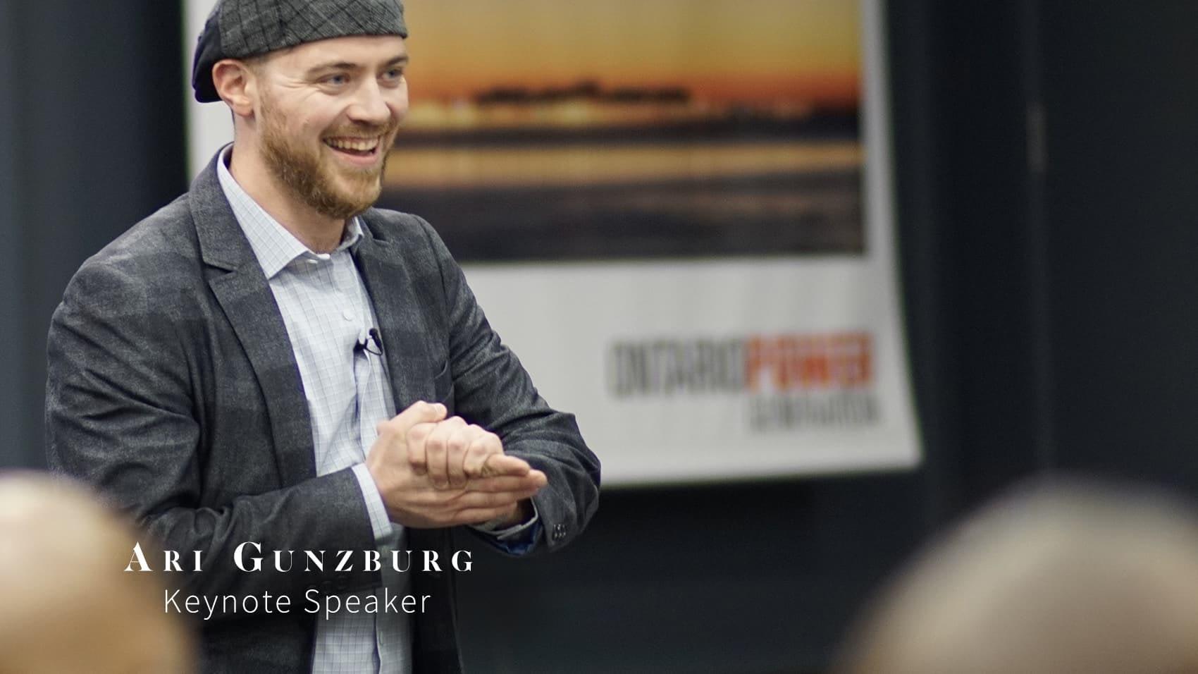 Ari Gunzburg short speaking reel